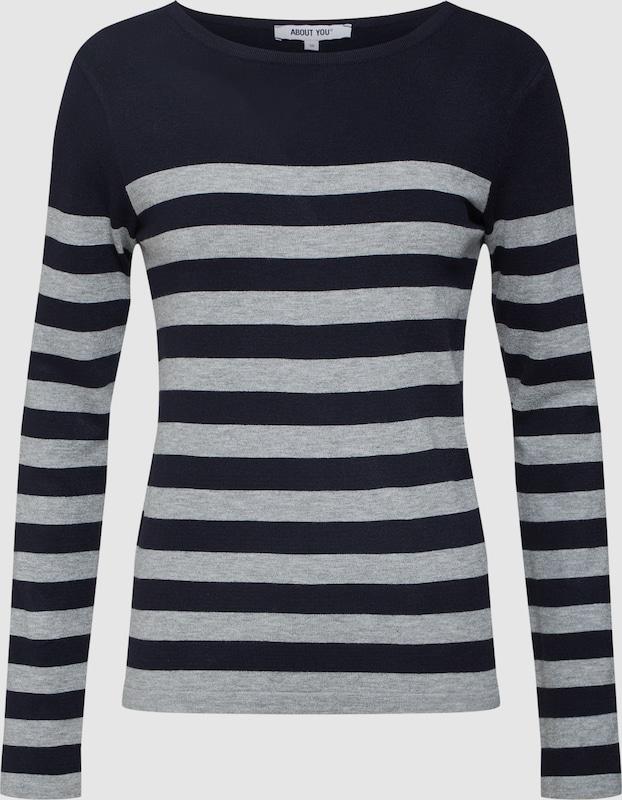 6241b90ca0bbc ABOUT YOU Sweter 'Joana' w kolorze kobalt niebieski / szarym | ABOUT YOU
