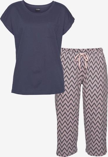 VIVANCE Schlafanzug in navy / hellpink, Produktansicht