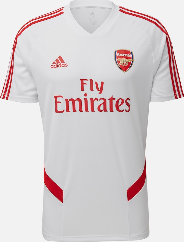 ADIDAS PERFORMANCE Trainingstrikot 'FC Arsenal' in gold / rot / weiß: Frontalansicht