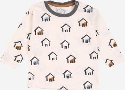 Sanetta Pure T-Shirt en beige / bleu nuit / marron, Vue avec produit