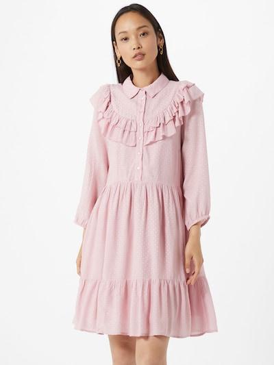Y.A.S Sukienka koszulowa 'Alva' w kolorze różowy pudrowy / srebrnym: Widok z przodu