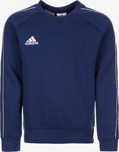 ADIDAS PERFORMANCE Sportief sweatshirt 'Core 18 Sw' in de kleur Donkerblauw / Wit, Productweergave