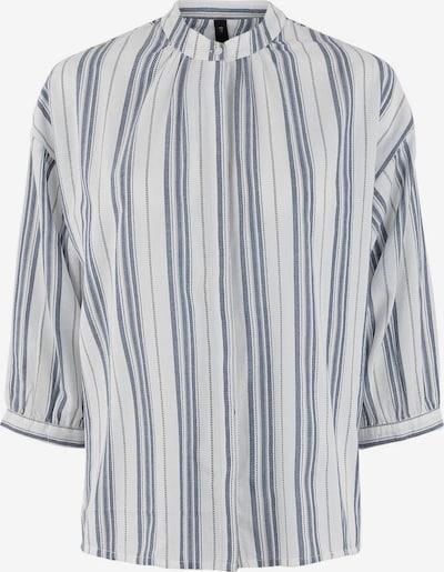 Y.A.S Bluse in blue denim / weiß, Produktansicht