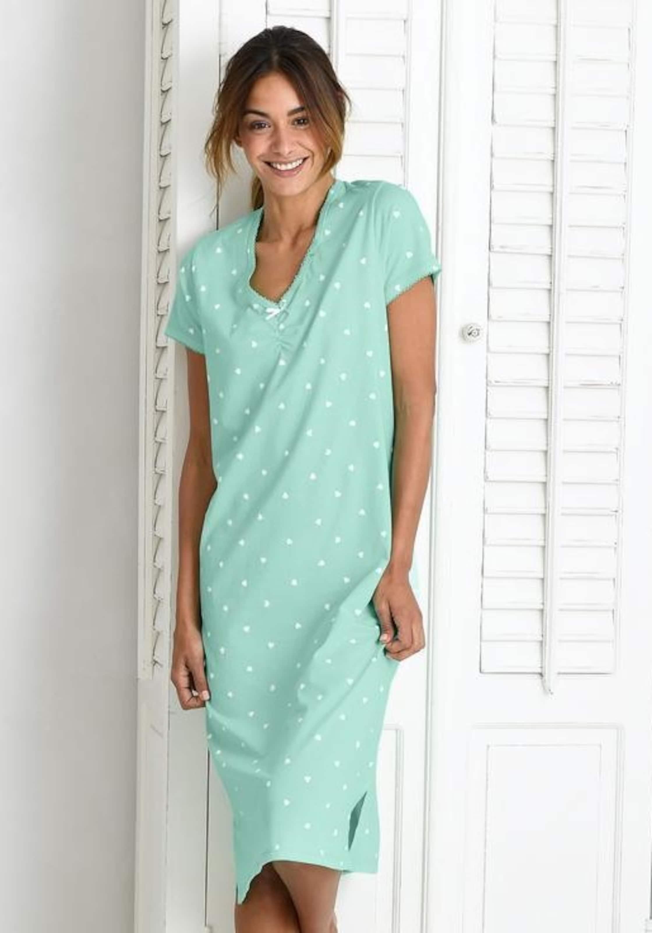 Mode-Stil Günstiger Preis VIVANCE Lange Nachthemden (2 Stück) mit Kräuselsäumen Billig Kaufen Bestellen KDxKi