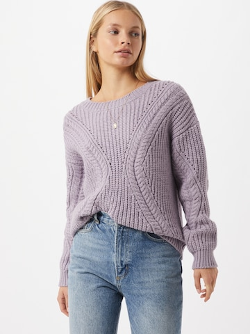 ABOUT YOU Sweater 'Cyra' in Purple