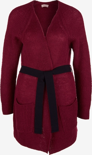 TRIANGLE Strickjacke in rubinrot / schwarz, Produktansicht