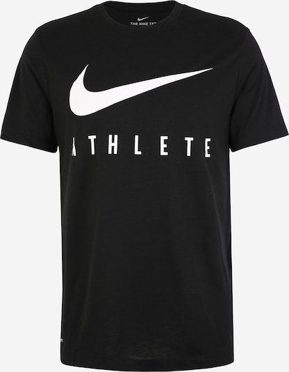 NIKE Functioneel shirt 'M NK DRY TEE DB ATHLETE' in de kleur Zwart / Wit, Productweergave