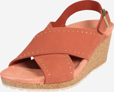 BIRKENSTOCK Sandales 'Samira' en marron / rouge, Vue avec produit