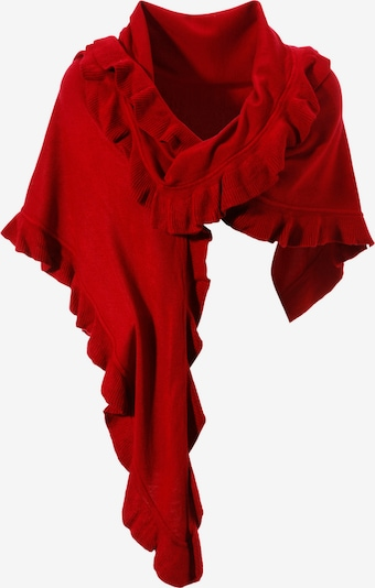 Purset Poncho in rot, Produktansicht
