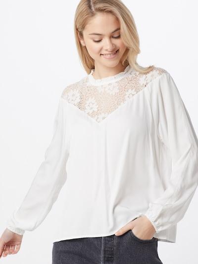 VILA Langarm Bluse in weiß, Modelansicht