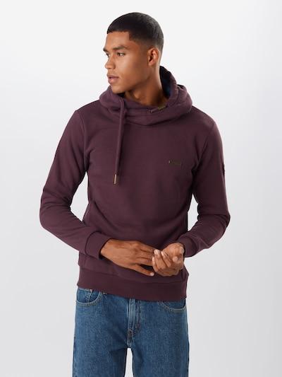 Ragwear Sweatshirt 'BEAT' in weinrot: Frontalansicht