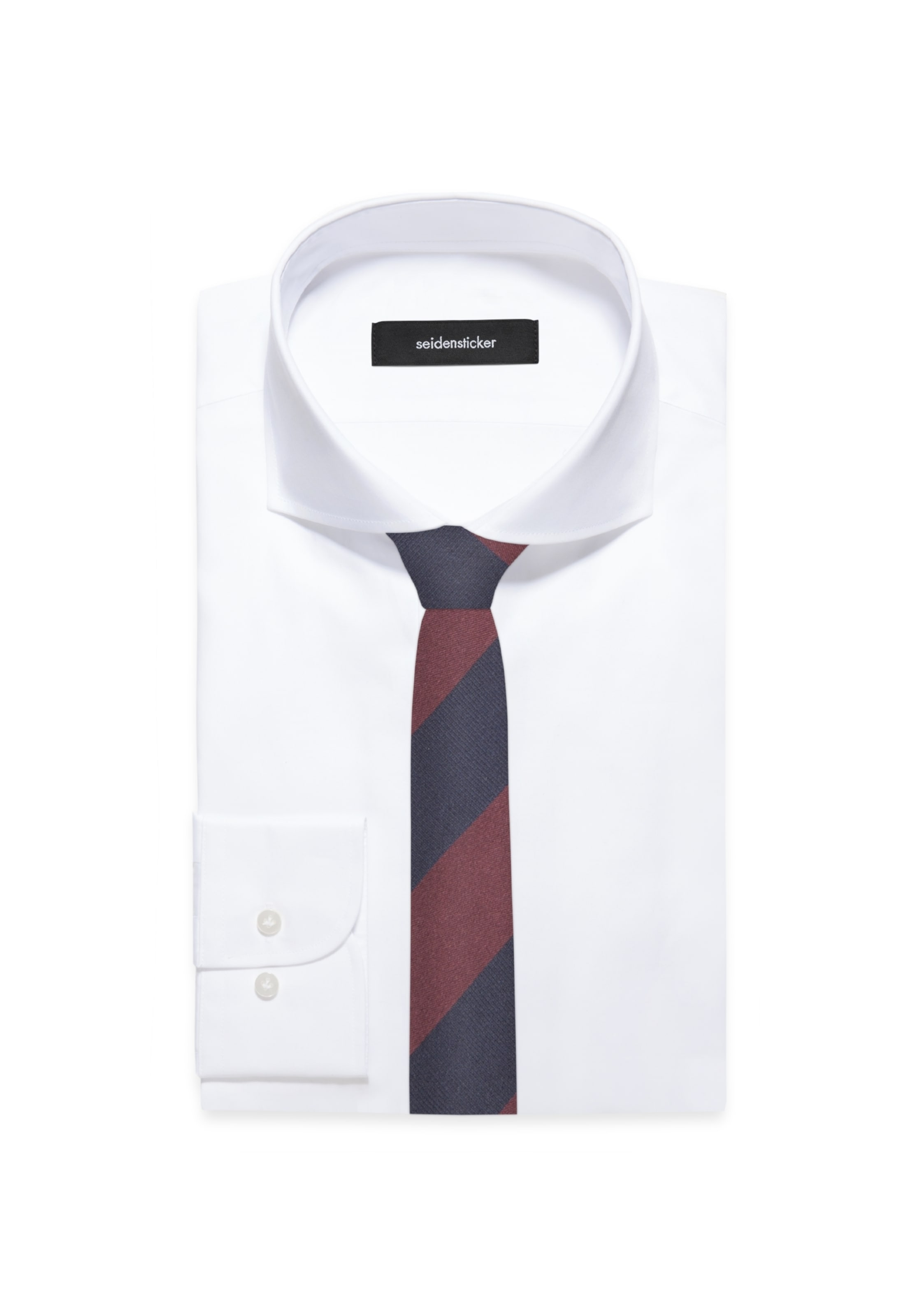 MarineRouge Cravate Sang Bleu En 'slim' Seidensticker k0OPnw