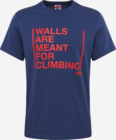 THE NORTH FACE T-Shirt fonctionnel 'WALLS ARE FOR CLIMBING' en bleu foncé / rouge, Vue avec produit