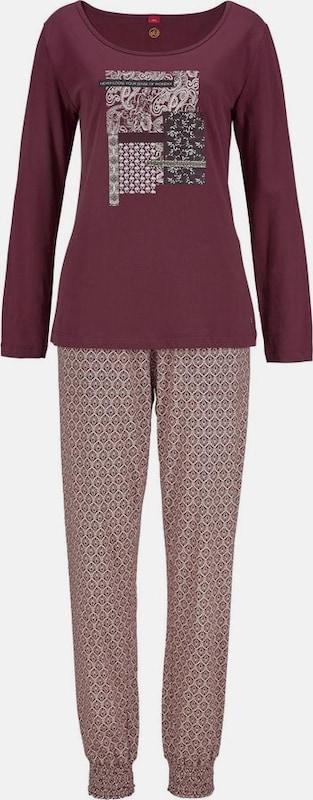 s.Oliver RED LABEL Pyjama mit gemusterter Hose und Langarmshirt
