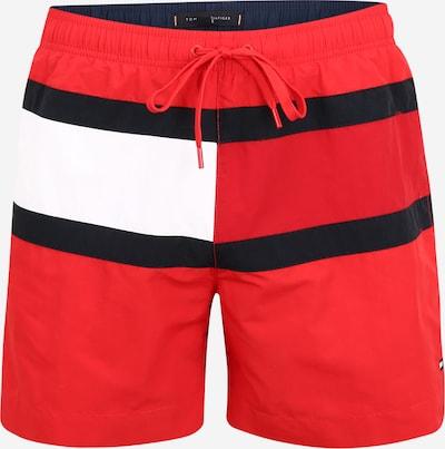 Tommy Hilfiger Underwear Badeshorts in blutrot / schwarz / weiß, Produktansicht