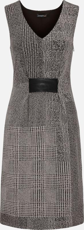 APART APART APART Kleid mit Kunstleder-Details in taupe   schwarz  Freizeit, schlank, schlank 672b47
