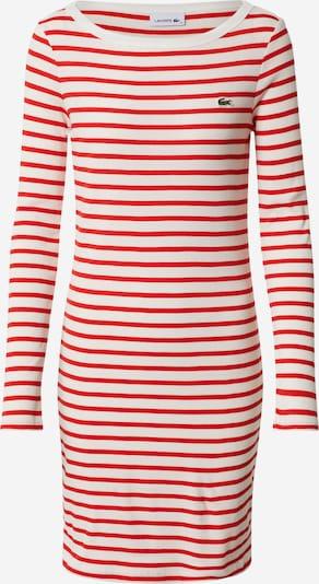 LACOSTE Kleid 'ROBE' in rot / offwhite, Produktansicht