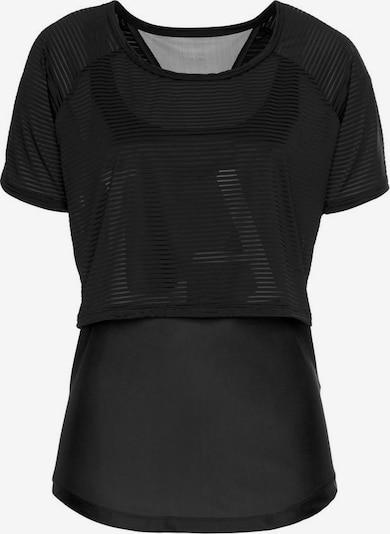 LASCANA ACTIVE Shirt 'Digital Mauve' in schwarz, Produktansicht