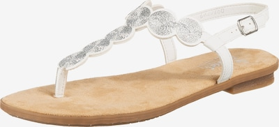 Flip-flops RIEKER pe argintiu / alb, Vizualizare produs