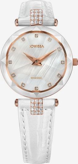 JOWISSA Analoog horloge 'Facet Strass' in de kleur Rose-goud / Wit, Productweergave