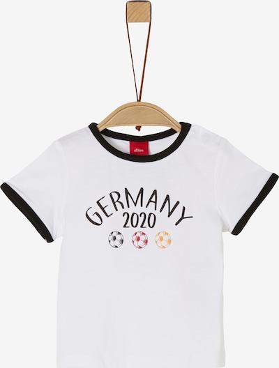 s.Oliver T-Shirt in mischfarben / schwarz / weiß, Produktansicht
