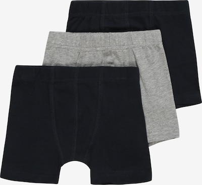NAME IT Boxershorts 'TIGHTS 3P SOLID GREY' in graumeliert / schwarz, Produktansicht