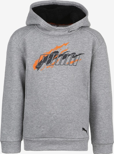 PUMA Kapuzenpullover 'Alpha Holiday' in grau / orange / schwarz, Produktansicht