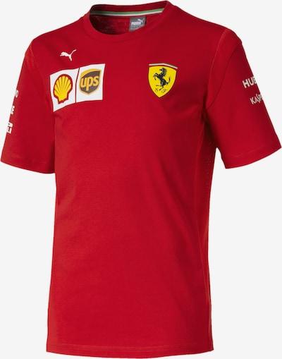PUMA T-Shirt 'Scuderia Ferrari' in gelb / rot / weiß, Produktansicht