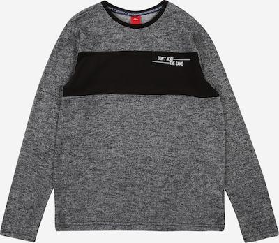 s.Oliver Junior Shirt in grau / schwarz / weiß, Produktansicht
