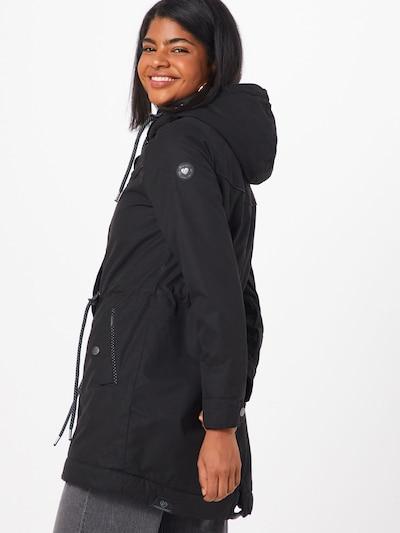 Ragwear Tussenparka 'CANNY' in de kleur Zwart: Achteraanzicht