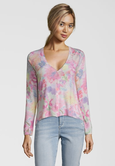 PRINCESS GOES HOLLYWOOD Cardigan mit Flower-Print in gelb / lila / pink, Modelansicht