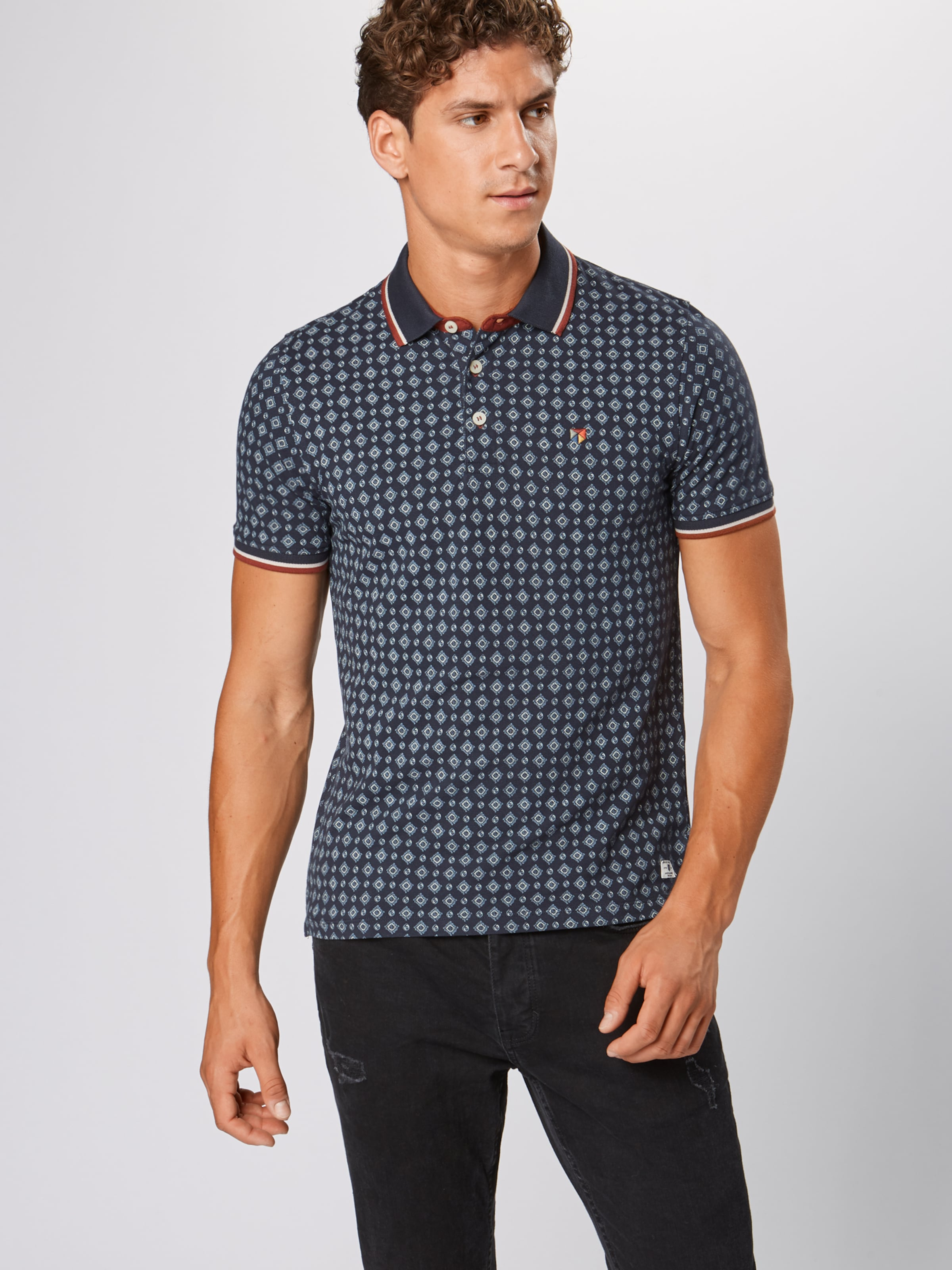 Jackamp; Bleu 'paulos' Jones Marine En T shirt 0Nmwvy8On