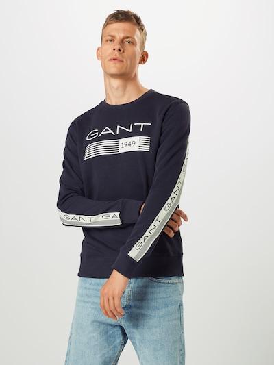 sötétkék / fehér GANT Tréning póló: Elölnézet