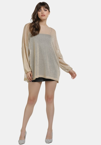 myMo at night Pullover in gold: Frontalansicht