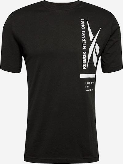 Tricou funcțional REEBOK pe negru / alb, Vizualizare produs