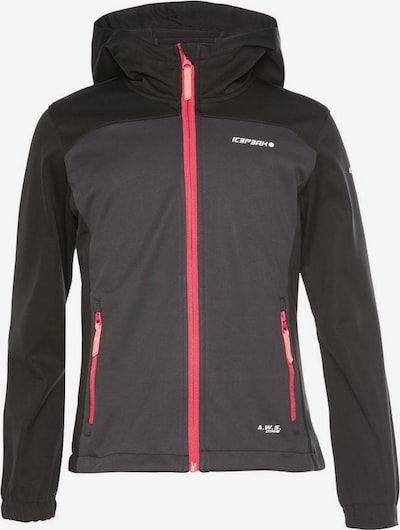 ICEPEAK Jacke 'Lamesa' in grau / pink / schwarz, Produktansicht