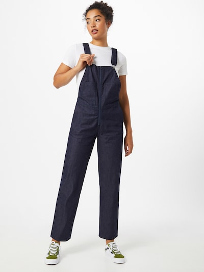 G-Star RAW Dungaree jeans in Blue denim, View model