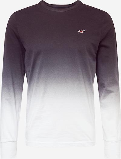 HOLLISTER Majica | črna / bela barva, Prikaz izdelka