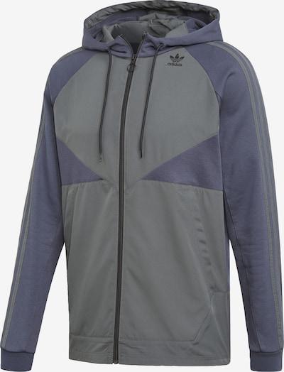 ADIDAS ORIGINALS Sweatjacke in taubenblau / grau, Produktansicht