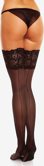 GLAMORY Hold Ups Halterlose Nahtstrümpfe 'Couture' in schwarz, Produktansicht