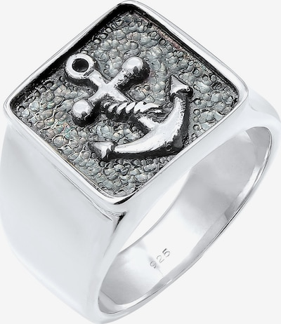 KUZZOI Ring Anker, Siegelring in silber, Produktansicht
