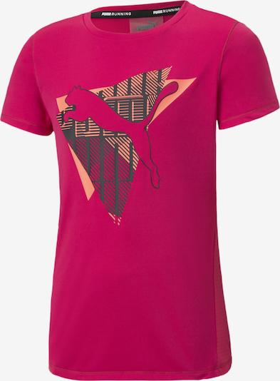 PUMA T-Shirt 'Runtrain' in anthrazit / koralle / pink, Produktansicht
