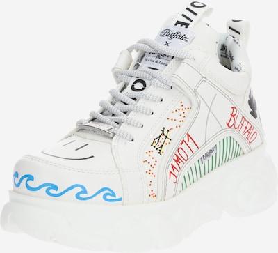 BUFFALO Sneakers hoog ' x  by Lisa & Lena - Graffiti Style' in de kleur Gemengde kleuren / Wit, Productweergave