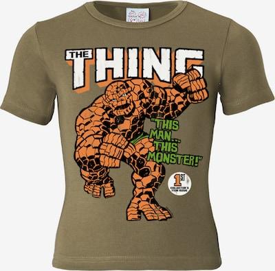 LOGOSHIRT T-Shirt 'Das Ding - Marvel - The Thing' in khaki, Produktansicht