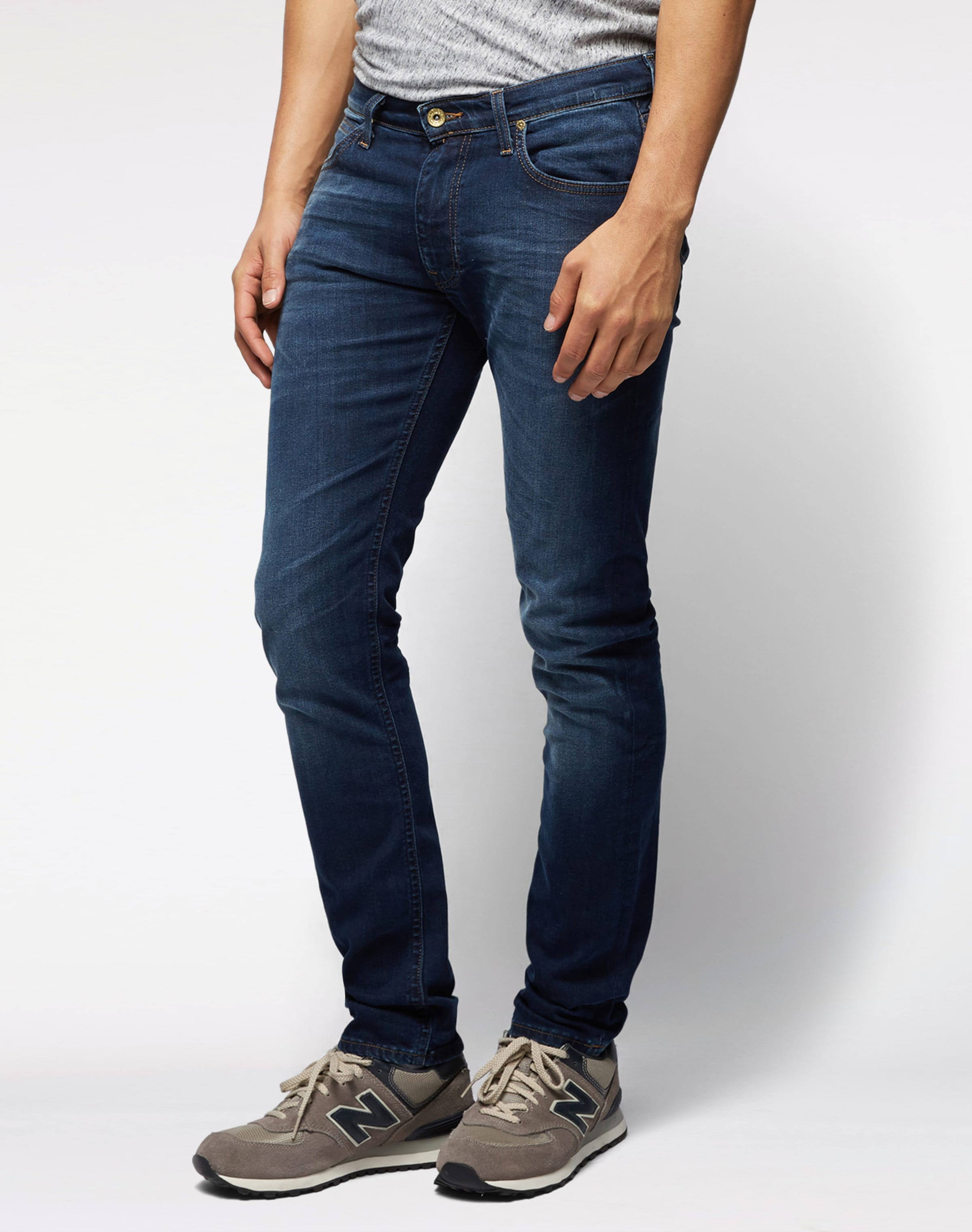 Denim Blue Lee 'luke' Jeans In kXOZPiu