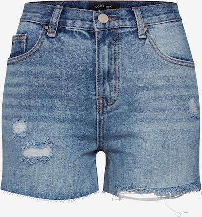 Lost Ink Shorts 'DENIM MOM SHORT CAPITAL RIP' in blue denim, Produktansicht