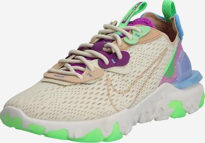Sneaker low 'React Vision' Nike Sportswear pe bej / verde neon / mov, Vizualizare produs