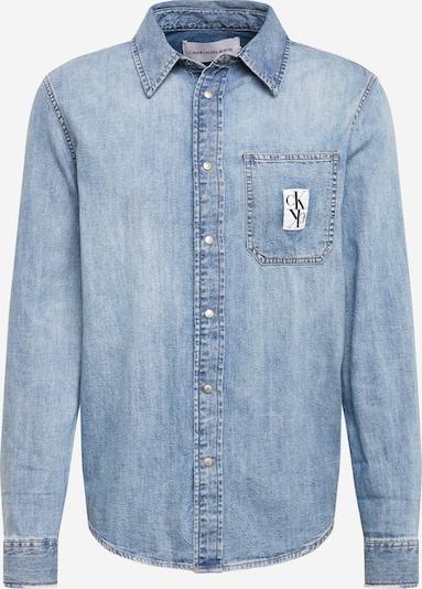 Cămașă Calvin Klein Jeans pe denim albastru, Vizualizare produs