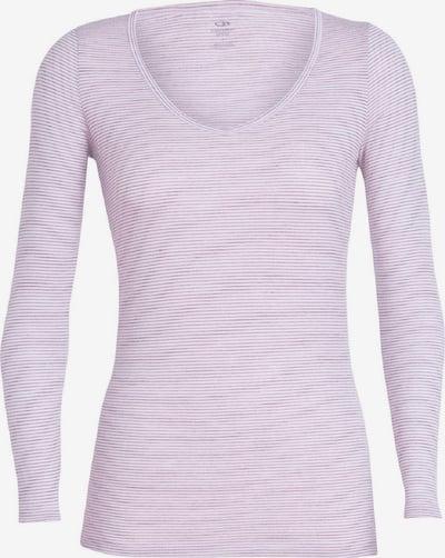 Icebreaker Shirt 'Siren LS Sweetheart' in hellpink / weiß, Produktansicht