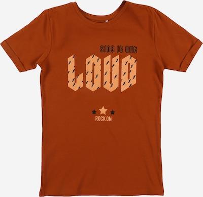 NAME IT T-Shirt 'NKFDROKE SS SLIM TOP' in braun: Frontalansicht